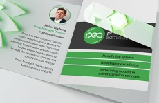 PEA: Promotional Folding Business Card